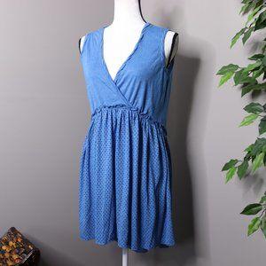 Sundance Sleeveless Dress Faux Wrap V Neck